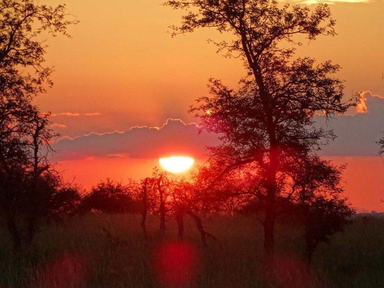Zonsondergang in Limpopo